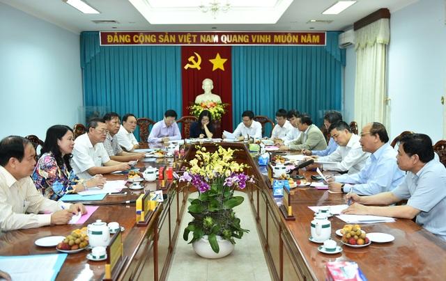 Thủ tướng làm việc với các lãnh đạo chủ chốt tỉnh An Giang.