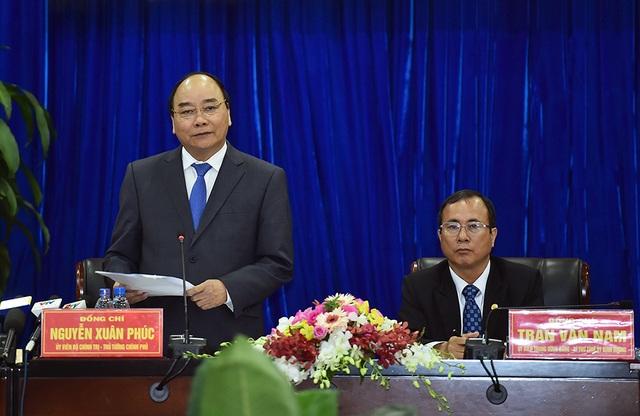 Thủ tướng phát biểu tại buổi làm việc (ảnh: VGP)