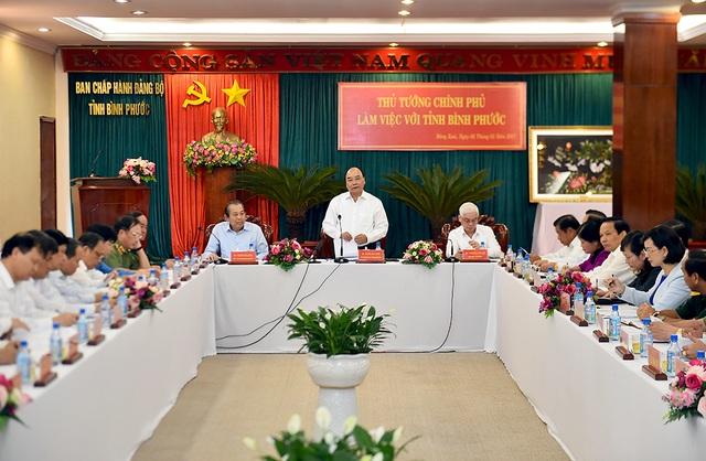 Thủ tướng làm việc với lãnh đạo tỉnh Bình Phước