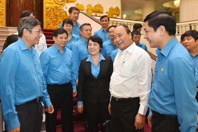 Thủ tướng và các lãnh đạo Tổng Liên đoàn