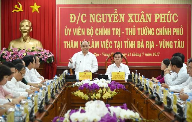 Thủ tướng chủ trì cuộc làm việc với lãnh đạo chủ chốt tỉnh Bà Rịa - Vũng Tàu.