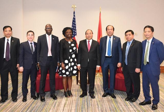 Thủ tướng tiếp bà Victoria Kwakwa, Phó Chủ tịch Ngân hàng Thế giới phụ trách khu vực Châu Á – Thái Bình Dương (ảnh: VGP)