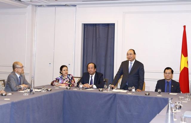 Thủ tướng Nguyễn Xuân Phúc tiếp đại diện trí thức gốc Việt. Trong ảnh, Thủ tướng phát biểu tại buổi tiếp. Ảnh: Thống Nhất – TTXVN