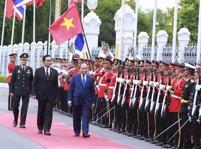 Thủ tướng Nguyễn Xuân Phúc tại lễ đón trong thể