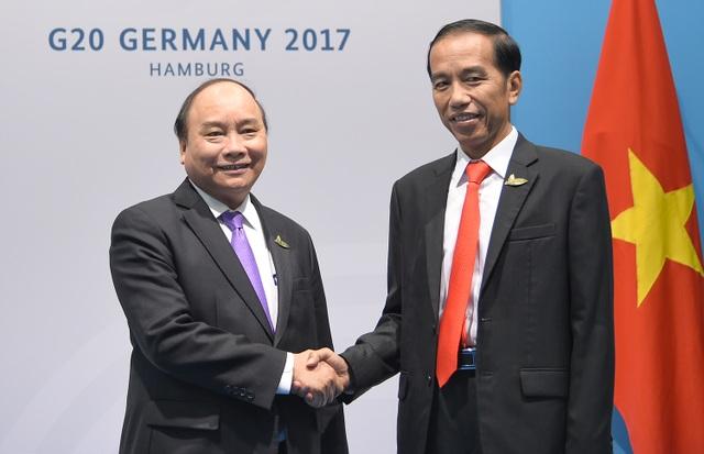 Thủ tướng Nguyễn Xuân Phúc và Tổng thống Indonesia Joko Widodo (ảnh: VGP)