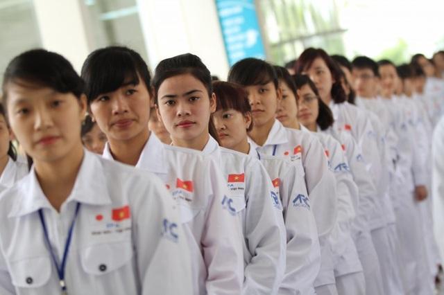 Thực tập sinh VN chuẩn bị xuất cảnh sang Nhật Bản