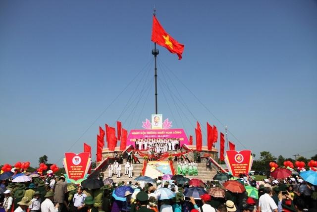 Lễ thượng cờ đặc biệt chào mừng 42 năm thống nhất đất nước, 45 năm giải phóng Quảng Trị