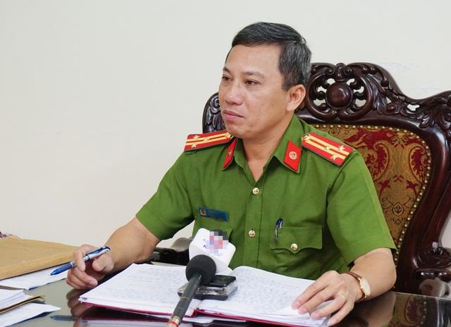 Thượng tá Hoàng Duy Hà - Phó Trưởng Công an TP Vinh thông tin về việc cảnh sát giao thông mặc thường phục xử lý người vi phạm