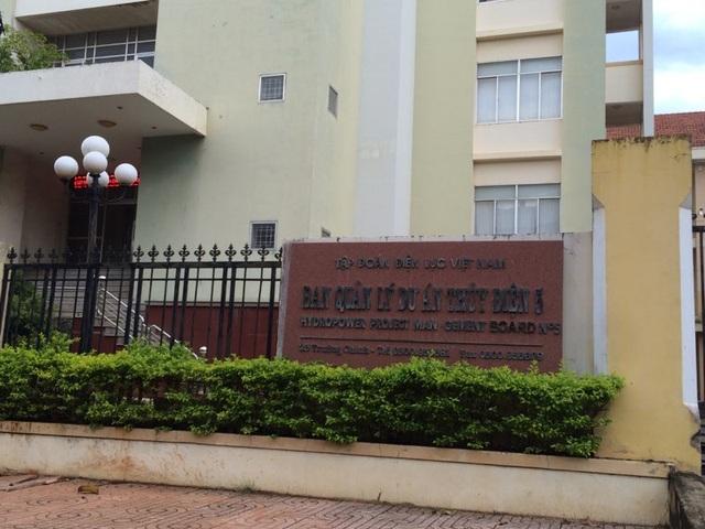 Ban quản lý dự án thủy điện 5 nơi ông Dâng từng công tác