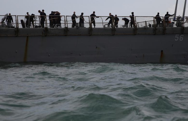 Tàu khu trục Mỹ đã được đưa về cảng Changi của Singapore vào trưa ngày 21/8 sau vụ va chạm. Đây là vụ va chạm thứ hai của tàu chiến Mỹ ở vùng biển châu Á trong vòng 2 tháng qua.