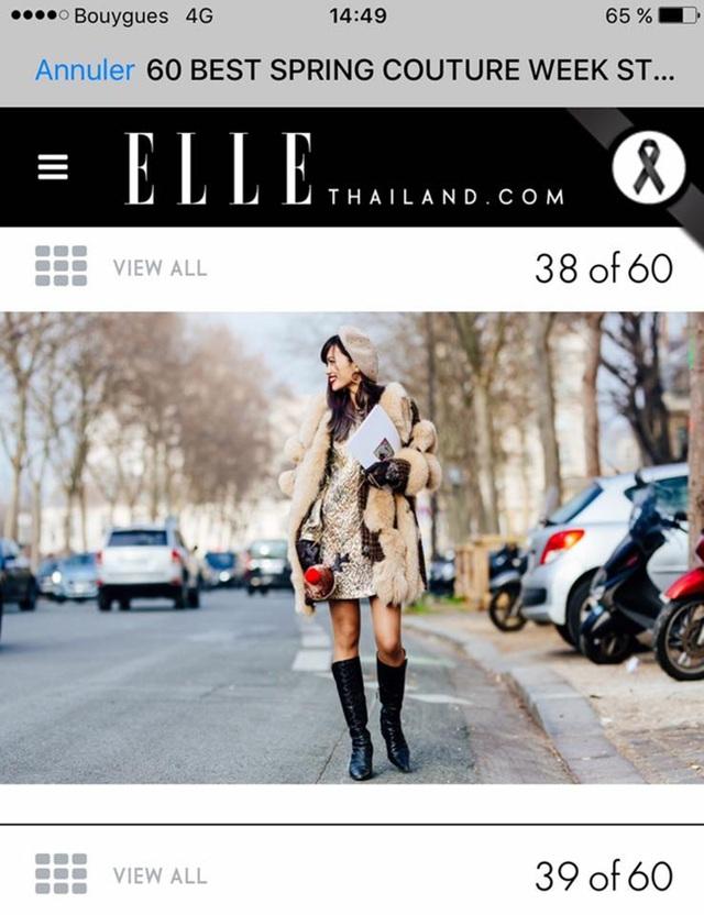 Thythu lọt trang phục đẹp của Ella Thái Lan.
