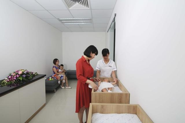 Hệ thống phòng riêng thay đồ, pha sữa cho trẻ.