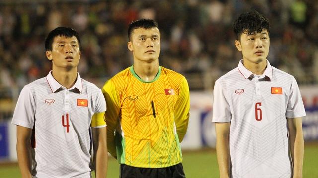 Thủ môn là một trong những nhược điểm lớn nhất của U22 Việt Nam hiện nay (ảnh: Trọng Vũ)