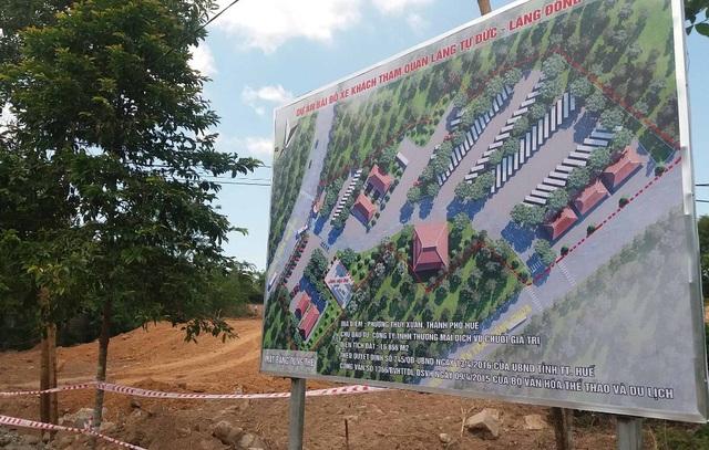 Dự án bãi đỗ xe tham quan lăng Tự Đức - Đồng Khánh