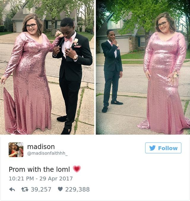Đoạn chia sẻ của Madison về hình ảnh của cô với bạn trai của mình. Ngoại hình không tương xứng là điểm dễ nhìn thấy nhất của cặp đôi này.