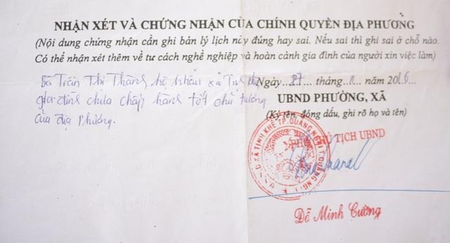 UBND TP. Quảng Ngãi yêu cầu UBND xã Tịnh Khê báo cáo gấp về việc phê xấu vào lý lịch công dân.
