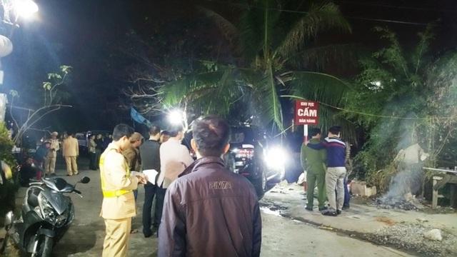 Hiện trường vụ tai nạn ô tô mất lái làm 3 người thương vong (Ảnh: Báo Giao thông)