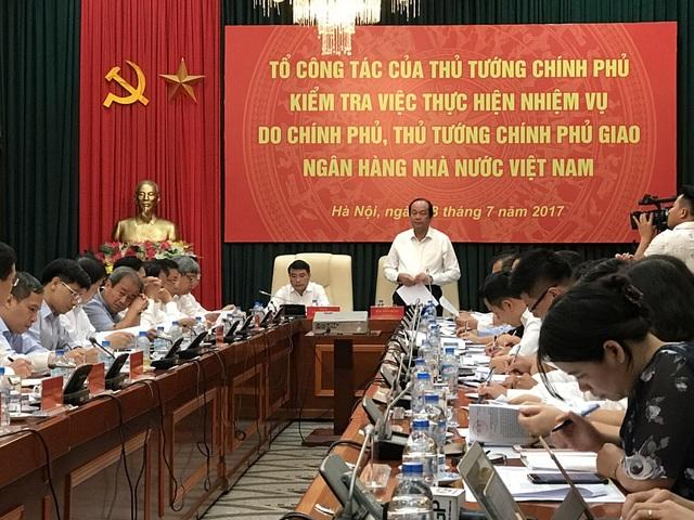 Bộ trưởng, Chủ nhiệm Văn phòng Chính phủ Mai Tiến Dũng cho biết, Thủ tướng yêu cầu NHNN giải trình 6 vấn đề