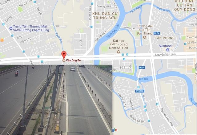 Trên đường Nguyễn Văn Linh đoạn gần cầu Ông Bé (nơi chị Q. tình báo bị bắt lên xe để hiếp dâm) có hệ thống camera an ninh, hiện công an đang trích xuất để phục vụ công tác điều tra.