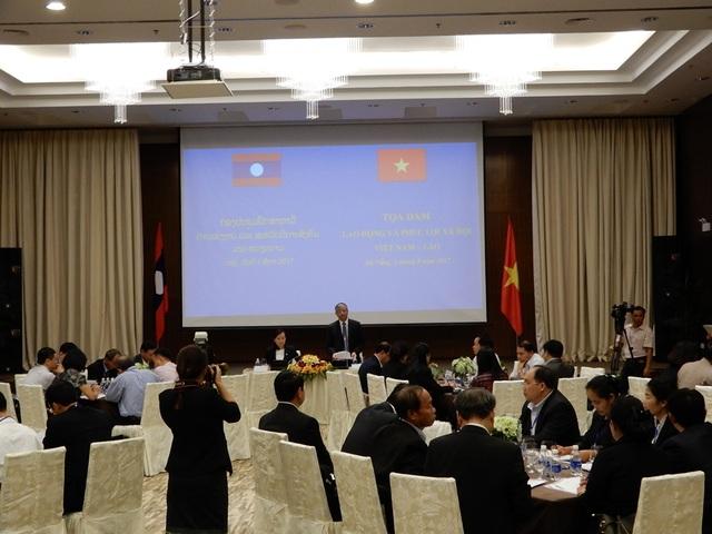 Toàn cảnh buổi tọa đàm tăng cường hợp tác lĩnh vực lao động và xã hội giữa hai nước Việt - Lào