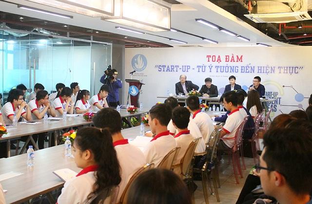 """Tọa đàm """"Start-up – Từ ý tưởng đến thực tiễn"""" diễn ra tại Hà Nội."""