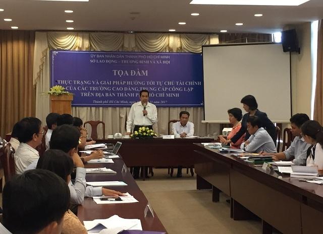 Toạ đàm về vấn đề tự chủ tài chính của các trường CĐ, Trung cấp do Sở LĐ,TB&XH TP.HCM tổ chức