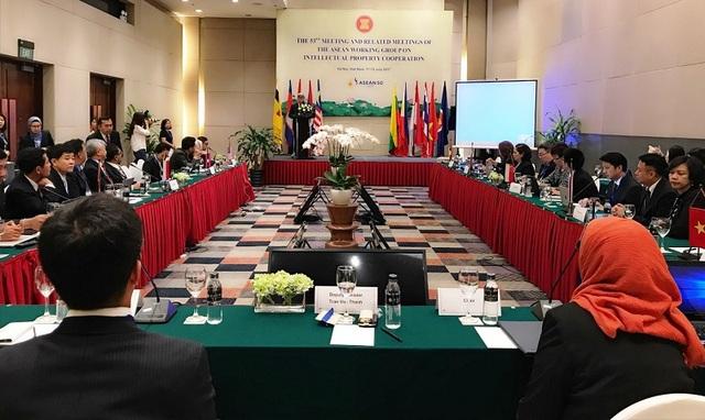 Toàn cảnh cuộc họp lần thứ 53 Nhóm Công tác về Hợp tác Sở hữu trí tuệ các nước ASEAN.