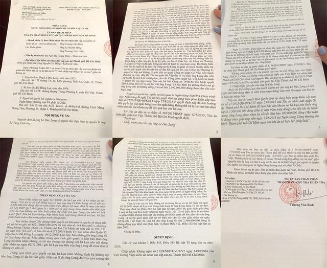 Ủy ban Thẩm phán TAND cấp cao tại TP.HCM đã chấp nhận toàn bộ kháng nghị của Viện KSND cùng cấp, quyết định hủy 2 bản án dân sự sơ thẩm (của TAND quận Gò Vấp) và phúc thẩm (của TAND TP.HCM).