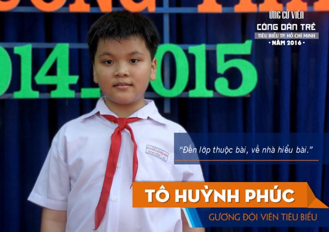 Em Tô Huỳnh Phúc, công dân trẻ tiêu biểu TPHCM 2016 đạt giải cao nhất của đoàn Việt Nam là HCB tại cuộc thi này
