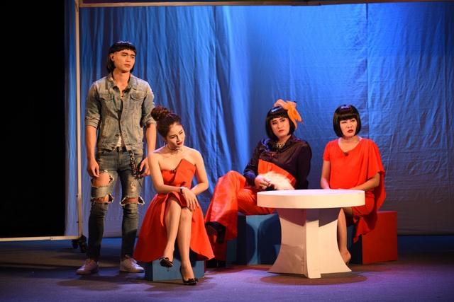 Một cảnh trong vở Tôi đẹp, tôi có quyền đang được công diễn tại Nhà hát Tuổi Trẻ.