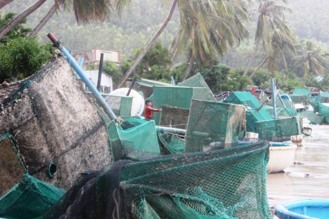 Ông Trần Hữu Thế, Phó Chủ tịch UBND tỉnh Phú Yên cho biết, tỉnh đang tiến hành thống kê nhưng hiện tại vẫn chưa có con số chính thức vì sóng vẫn còn lớn. Ông Thế nhận định số lồng bè thiệt hại là rất lớn.