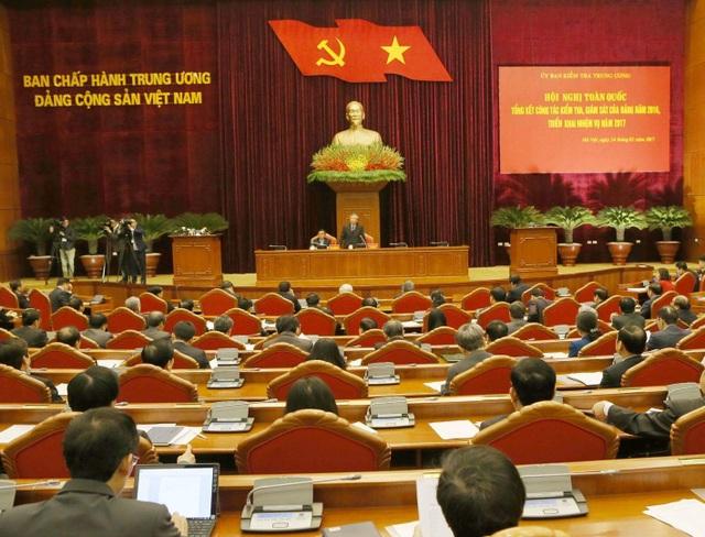 Tổng Bí thư phát biểu chỉ đạo tại Hội nghị toàn quốc về công tác kiểm tra, giám sát, thi hành kỷ luật Đảng.