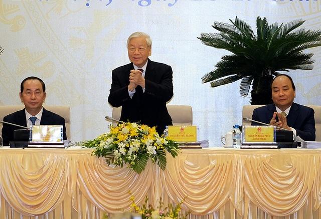 Tổng Bí thư lần đầu dự phiên họp Chính phủ