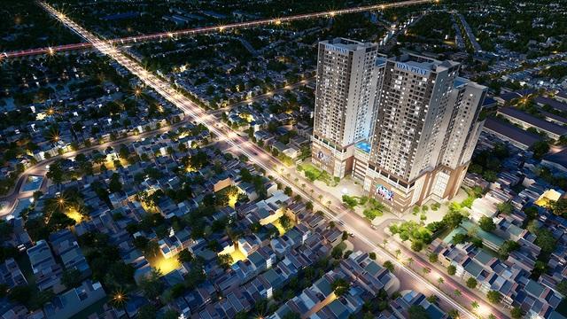 Góc nhìn tổng thể Dự án Mandarin Garden 2 tại đường Tân Mai thuộc khu vực phía Nam Thủ đô Hà Nội