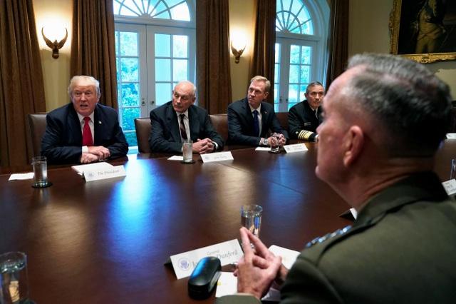 Ông Trump nói cuộc họp là khoảng lặng trước bão. (Ảnh: Reuters)