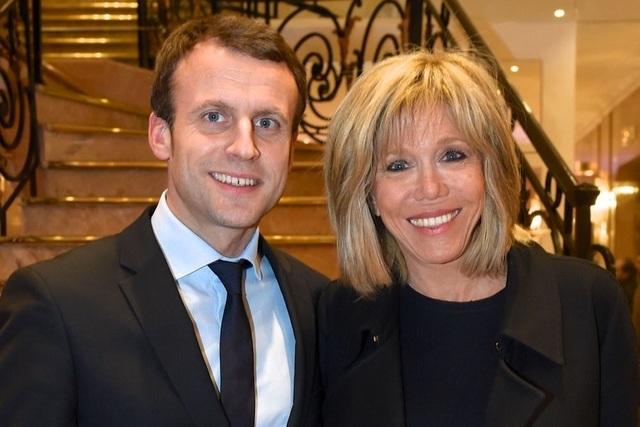 Tổng thống Emmanuel Macron và Đệ nhất phu nhân Brigitte Trogneux (Ảnh: Getty)