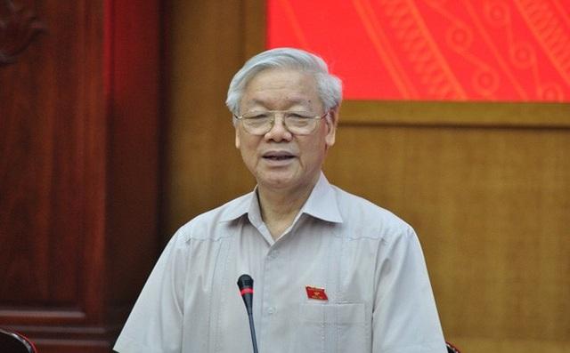 Theo chương trình, Tổng Bí thư Nguyễn Phú Trọng dự và phát biểu chỉ đạo tại Hội nghị.