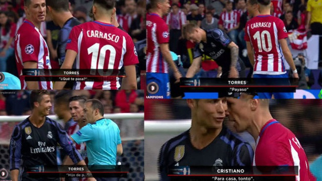 Torres và C.Ronaldo hục hặc với nhau