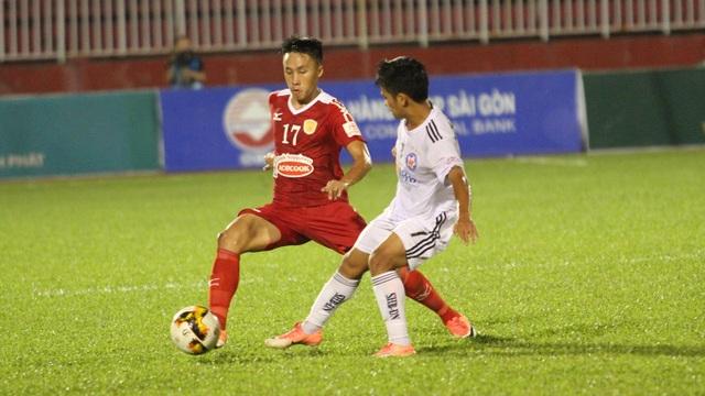 CLB TPHCM giành lại 1 điểm trên sân Thống Nhất (ảnh: Trọng Vũ)