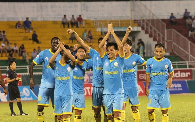 Khánh Hoà bất ngờ có cơ hội vô địch V-League 2017 (ảnh: Trọng Vũ)