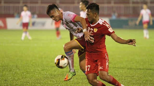 Sài Gòn FC tỏ ra nguy hiểm hơn trong các pha hãm thành (ảnh: Trọng Vũ)