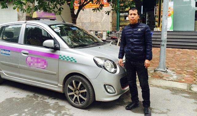 Anh Nguyễn Thành Trung, tài xế taxi không tham tài sản của khách đánh rơi.