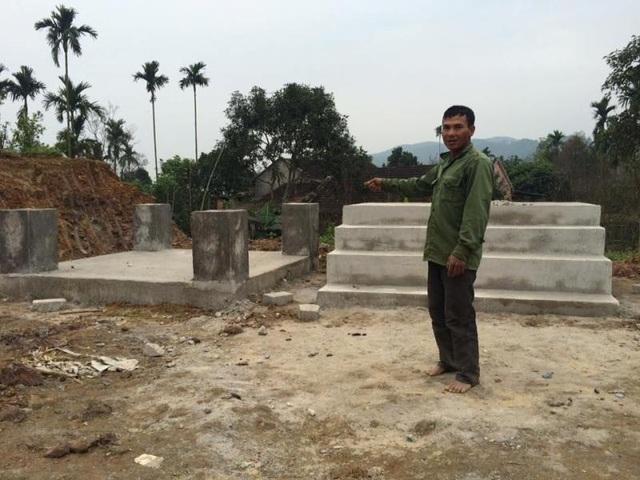 Công trình đã hoàn thiện phần móng nhưng chính quyền không hề được thông báo.