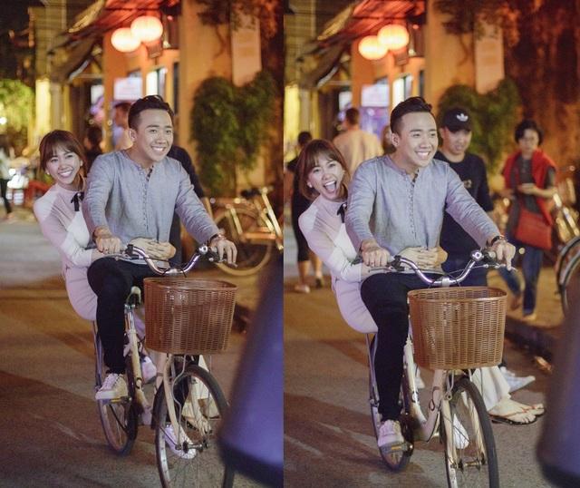 Qua MV Từ giây phút đầu, người xem có thể nhận thấy điều nổi bật nhất chính là nụ cười rạng rỡ của Hari và Trấn Thành trong suốt quá trình ghi hình.