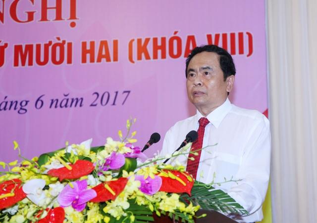 Ông Trần Thanh Mẫn giữ chức Chủ tịch MTTQ Việt Nam