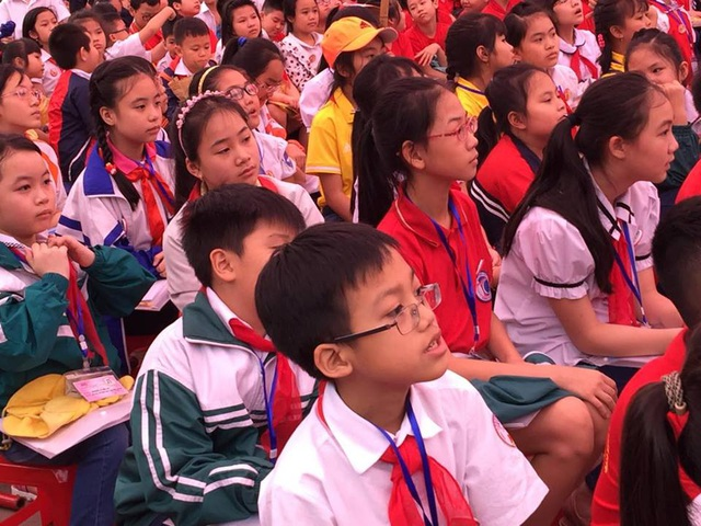 Học sinh háo hức tham gia