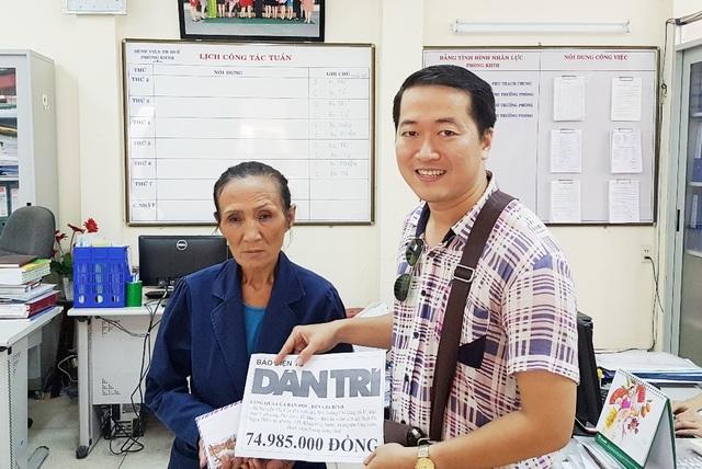 PV cùng hoàn cảnh bà Nguyễn Thị Cúc được phản ánh trên báo và đã nhận được sự giúp đỡ nhiệt tình của các bạn đọc