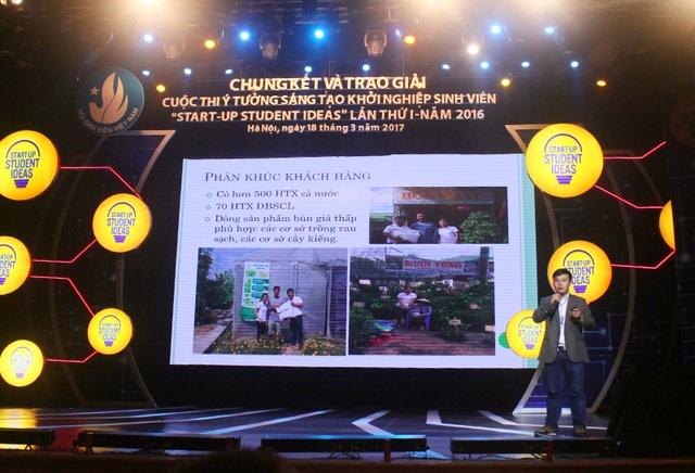 3 nhóm thí sinh xuất sắc nhất được ban giám khảo lựa chọn từ 15 nhóm thí sinh chung kết toàn quốc để thuyết trình trực tiếp tranh giải Nhất