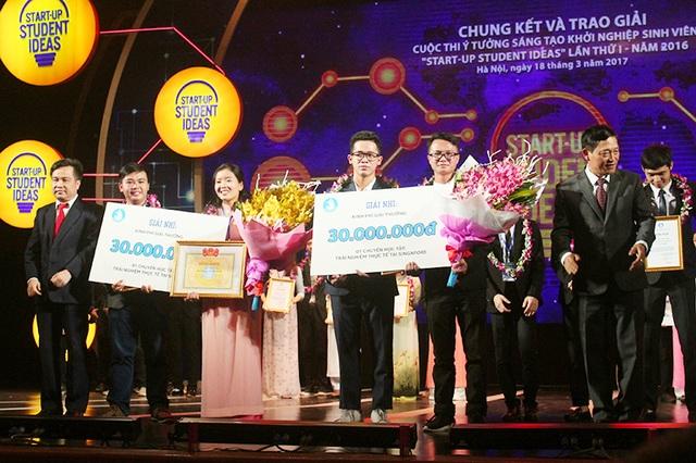 Hai nhóm đoạt giải Nhì nhận phần thưởng 30 triệu đồng mỗi nhóm.