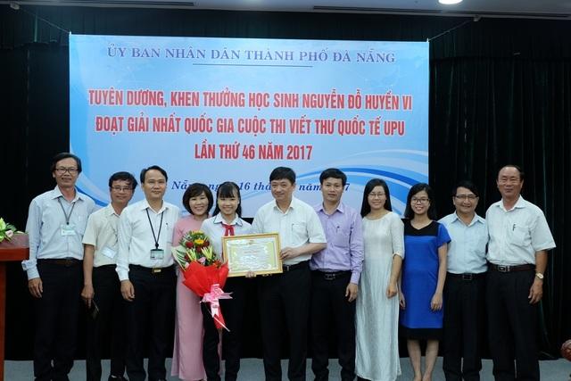Chính quyền TP. Đà Nẵng tổ chức lễ tuyên dương, khen thưởng học sinh đoạt giải Nhất Quốc gia Cuộc thi Viết thư UPU quốc tế lần thứ 46